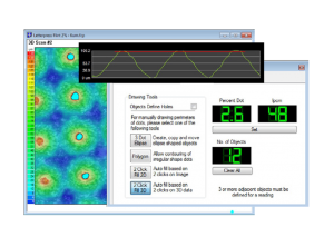 2D dot analysis utilising 3D data